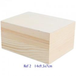 Caja madera de pino macizo...