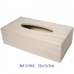 Caja pañuelos madera de...